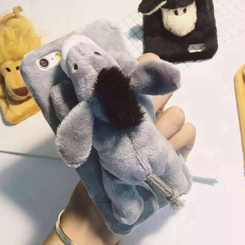 Soft Comfortable Doll Toy Plush iPhone Case Cover