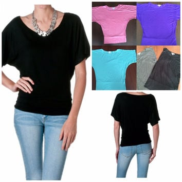 Banded Bottom Top - 5 Colors!