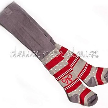 Deux Par Deux Casse-Noisette Striped Tights N.C.. Sizes 6/12mo last 1