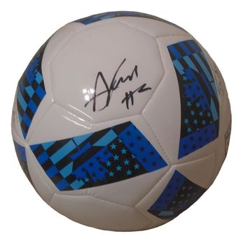 Andrew Farrell Autographed Adidas MLS Logo White Soccer Ball, Proof Photo