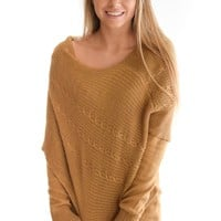 Days Together Sweater In Camel