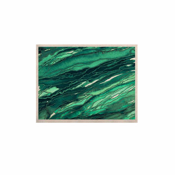 "Ebi Emporium ""Agate Magic - Teal Green Multi"" Jade Painting KESS Naturals Canvas (Frame not Included)"