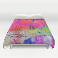 Mixed Media Abstract 2 Duvet Cover by kathleentennant