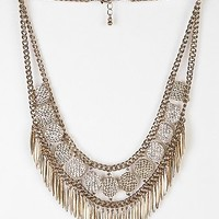 Statement Fringe Necklace - Urban Outfitters