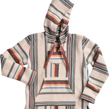 Senor Lopez Men's Cream Baja Pullover