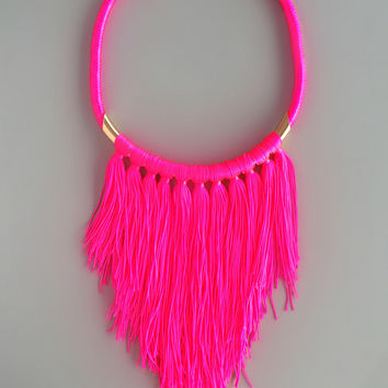 Hot Pink Brianna Necklace