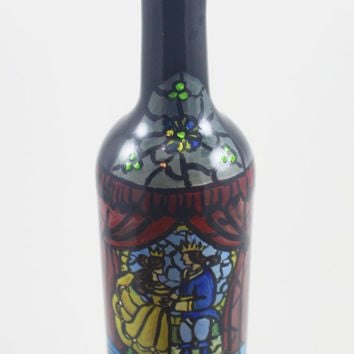 Hand Painted Disney Inspired Up-Cycled Wine Bottles: Beauty & the Beast