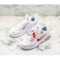 Nike Air Max Axis x Off-White White Red Running Shoes