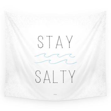 Society6 Stay Salty Wall Tapestry