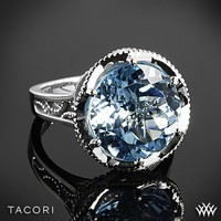 Tacori Island Rains Sky Blue Topaz Ring in Sterling Silver with 18k Yellow Gold Accents