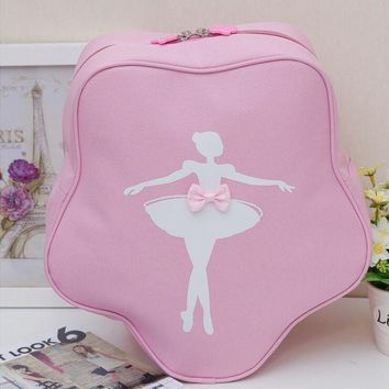 ICIKFV3 Fashion Children Dance Bag Girls Princess Cute Ballet Pink Backpack Care Package with bow