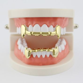 Vampire Gold Teeth Grillz