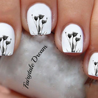 1143 Flowers  20 Water Slide Nail Art Transfer Decals stickers