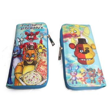Game  at    Wallet  Freddy Fazbear Foxy Chica TARDIS PU Coin Purses Zipper Cosplay Money Bags