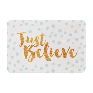 "Nick Atkinson ""Just Believe"" White Gold Memory Foam Bath Mat"