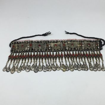 Turkmen Headdress Headpiece Vintage Afghan Ethnic Tribal,Chain, from 1950s,CK668