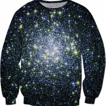 Blue and Yellow Stars | Universe Galaxy Nebula Star Clothes | Rave & Festival Shirt