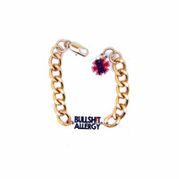 Allergy to BS - Gold Chain Fashion Bracelet