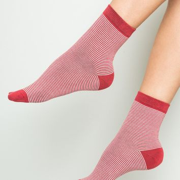 Red and Pink Stripe Socks - Socks - Accessories