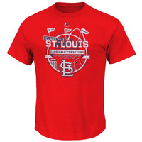 St. Louis Cardinals Majestic Big & Tall Pennant T-Shirt – Red