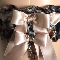 Mossy Oak Blush Wedding Garter Set, Prom Garter Set