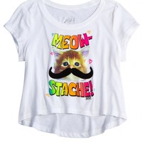 Meowstache Cropped Graphic Tee | Shop Justice