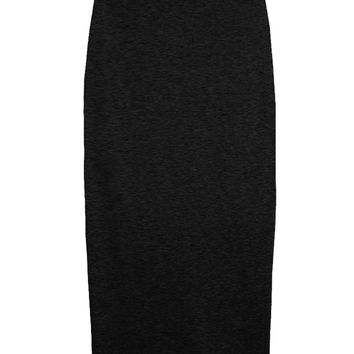 Black Knit High-waist Skirt