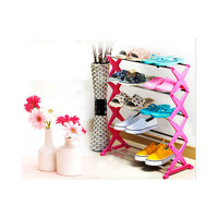 15 Pairs 5 Tier Level Stackable Space Saving Shoes Rack Organizer Storage Shelf