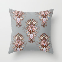 Harmony Grey Throw Pillow by Vanya