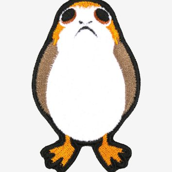 Licensed cool Star Wars: The Last Jedi PORG Fuzzy IRON ON Patch Badge for jacket  Licensed NEW