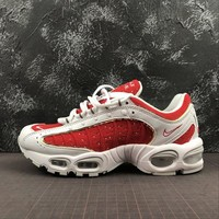 Supreme x Nike Air Max Tailwind IV 4 White / University Red Sport Running Shoes - Best Online Sale