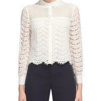 WhistlesPenny Cropped Lace Shirt