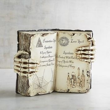 Witch's Spell Book Halloween Decor