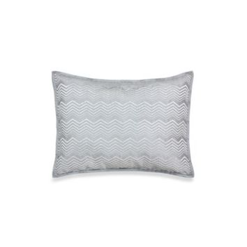 Vienna Decorative Oblong Toss Pillow in Light Grey