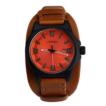 Sport Wrist Watch Men Males Leather Watchband Watches Causal Japan Quartz Clock Military Watches
