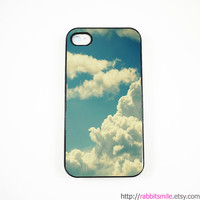 iPhone 5 Case, iPhone 4 case, iPhone 4s Cover , Hard Plastic iphone 5 Cover, cases - BLUE SKY and CLOUD
