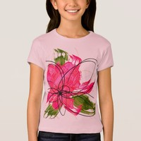 Blush Pink Olive Painted Daisy Baby Doll T-Shirt