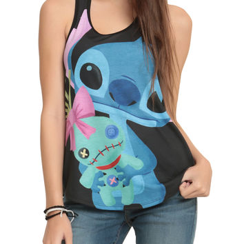 Disney Lilo & Stitch Cuddly Stitch Girls Tank Top