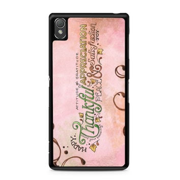 Happy Thankful Appreciaton Sony Xperia Z3 Case