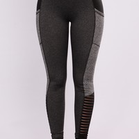 Rylee Active Leggings - Charcoal