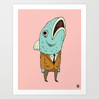 Business Fish Art Print by Beeisforbear