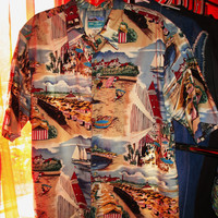 Amazing Reyn SPOONER Vintage Hawaiian Shirt Beach  Size XL 100% Cotton  Made in USA