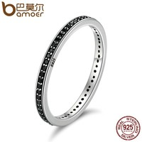 The 2017 BLACK FRIDAY DEALS Authentic 925 Sterling Silver 2 Colors Dazzling CZ Stackable Rings for Women Wedding Jewelry SCR114