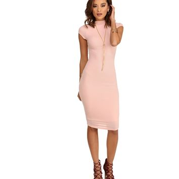 Pink Blush Posh Midi Dress