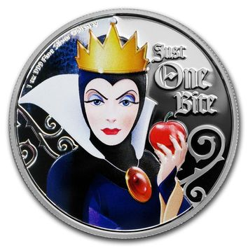 2018 Niue 1 oz Silver $2 Disney Villains Evil Queen