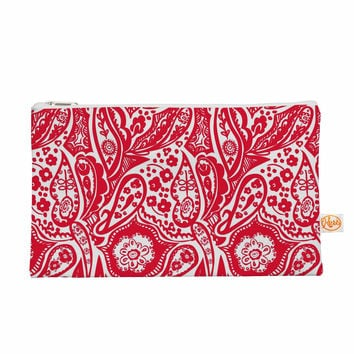 "Agnes Schugardt ""Paisley"" Paisley Red Everything Bag"