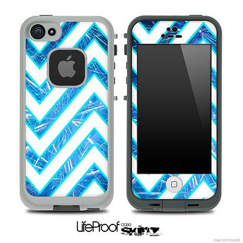 Large Chevron and Blue Fireworks V2 Skin for the iPhone 5 or 4/4s LifeProof Case