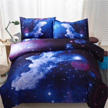 3d Galaxy Duvet Cover Set Single double Twin/Queen 2pcs/3pcs/4pcs bedding sets