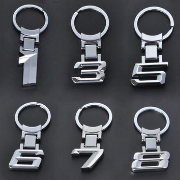 Fashion Zinc Alloy Metal Car Logo Chaveiro Keychain Key Chain Key Ring Keyring For BMW 1 3 5 6 7 X Key Holder