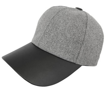 Play By Play Vegan Leather & Wool Cap